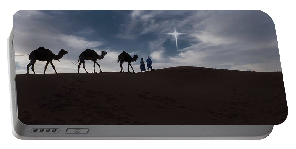 Africa Portable Battery Charger featuring the photograph Following The Star by Emily M Wilson