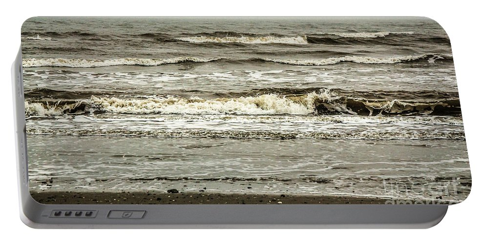 Folly Portable Battery Charger featuring the photograph Folly Surf II by Yvette Wilson