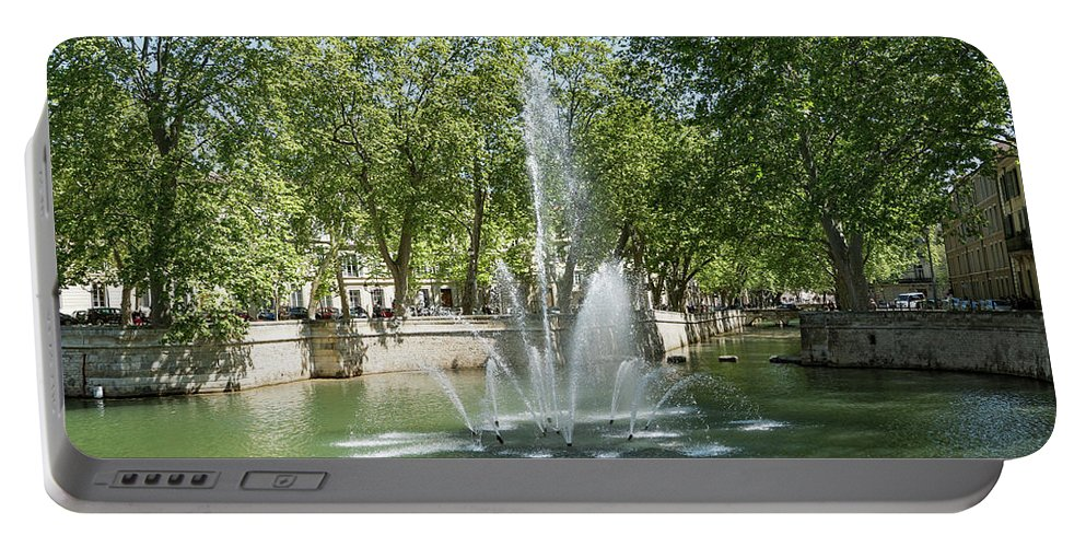 Water Portable Battery Charger featuring the photograph Fontaine De Nimes by Scott Carruthers