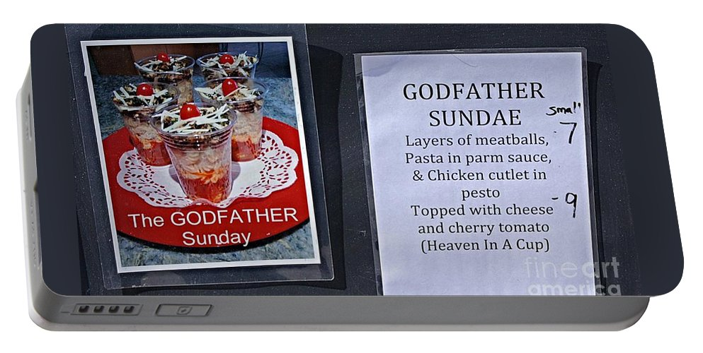Sign Menu Item Food Portable Battery Charger featuring the photograph Food Truck Sign by Bob Bennett