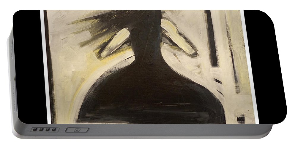 Fool Portable Battery Charger featuring the painting Fools Dance by Tim Nyberg