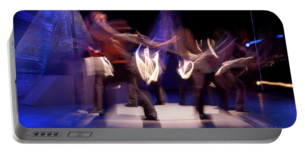 Photography Portable Battery Charger featuring the photograph Foot Stomping Dance by Frederic A Reinecke