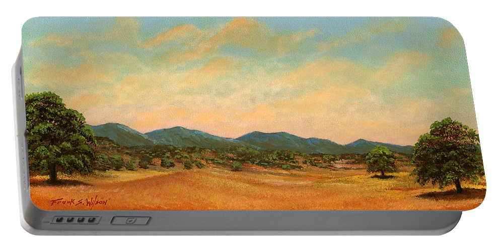 Landscape Portable Battery Charger featuring the painting Foothills by Frank Wilson