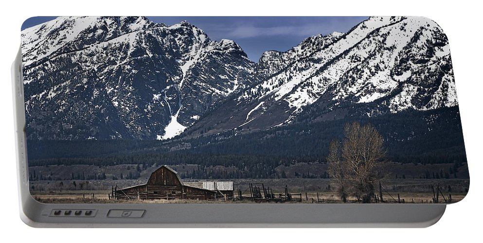 Mountains Portable Battery Charger featuring the photograph Foothills Of The Tetons by John Christopher