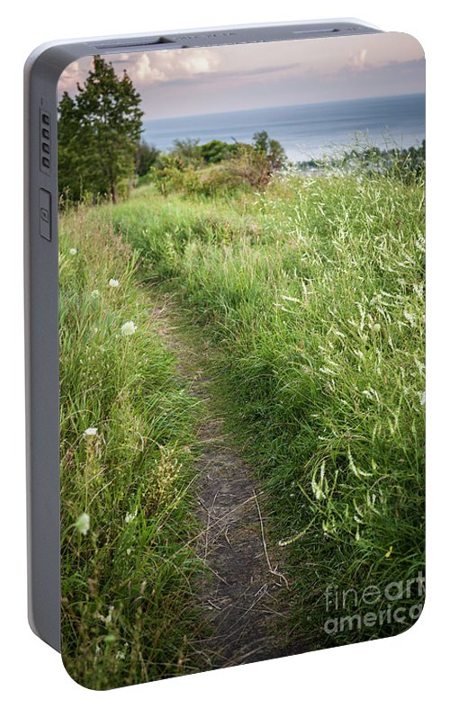 Footpath Portable Battery Charger featuring the photograph Footpath Along Cliffs by Elena Elisseeva