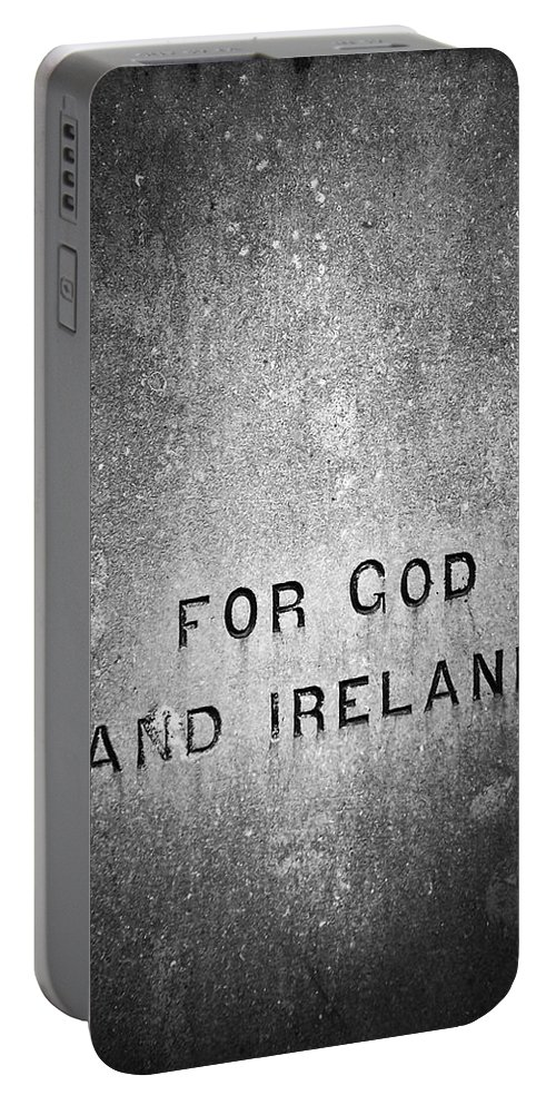 Irish Portable Battery Charger featuring the photograph For God And Ireland Macroom Ireland by Teresa Mucha