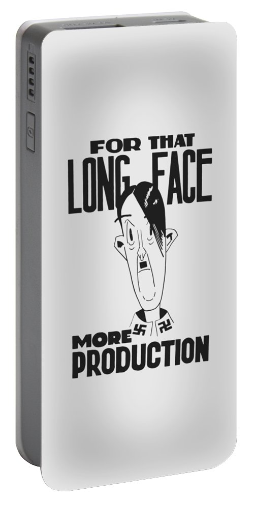 Ww2 Portable Battery Charger featuring the digital art For That Long Face - More Production by War Is Hell Store