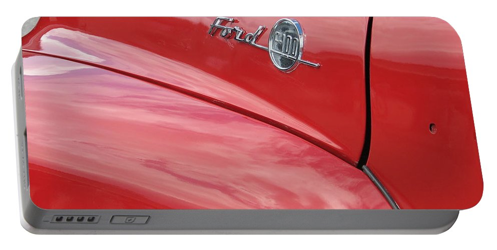 Ford Portable Battery Charger featuring the photograph Ford F-100 by Kelly Mezzapelle