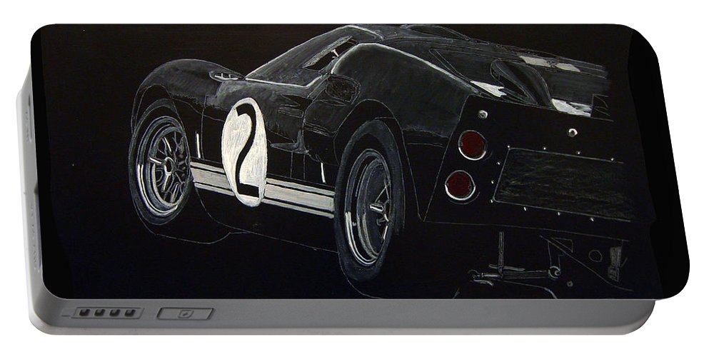 Ford Portable Battery Charger featuring the painting Ford Gt40 Racing by Richard Le Page