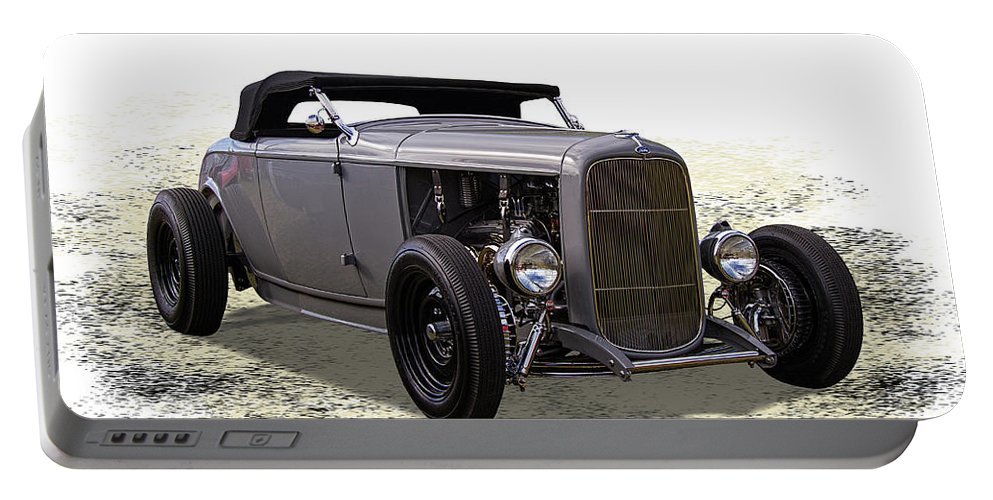 Ford Portable Battery Charger featuring the photograph Ford Hot Rod Roadster by Nick Gray