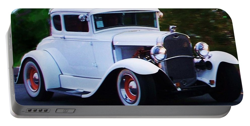 Ford Roadster Portable Battery Charger featuring the painting Ford Roadster by Eric Schiabor