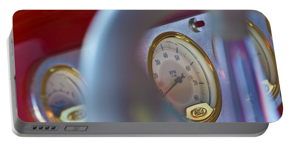 Ford Speedometer Portable Battery Charger featuring the photograph Ford Speedometer by Jill Reger