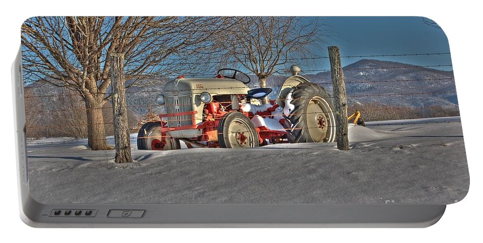 Ford Tractor Portable Battery Charger featuring the photograph Ford Tractor by Todd Hostetter