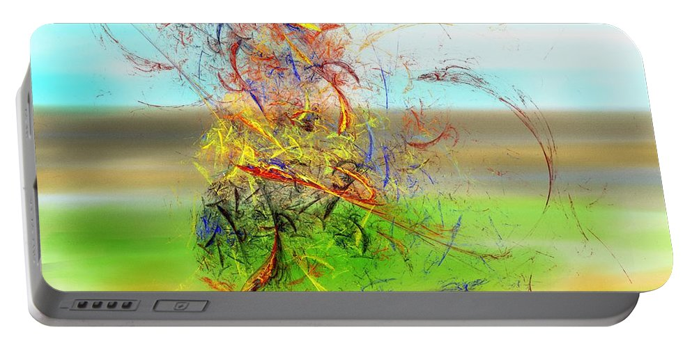 Digital Painting Portable Battery Charger featuring the digital art Fore by David Lane