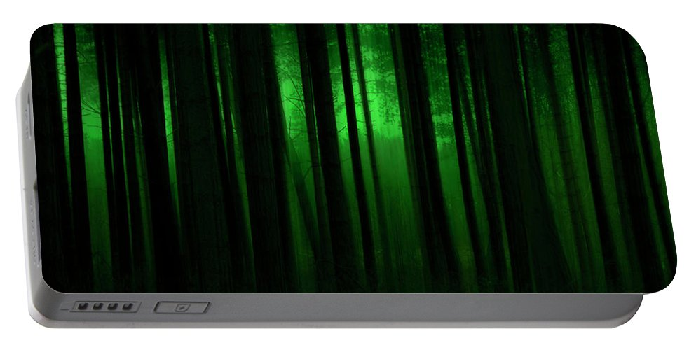 Forest Portable Battery Charger featuring the photograph Forest Abstract03 by Svetlana Sewell