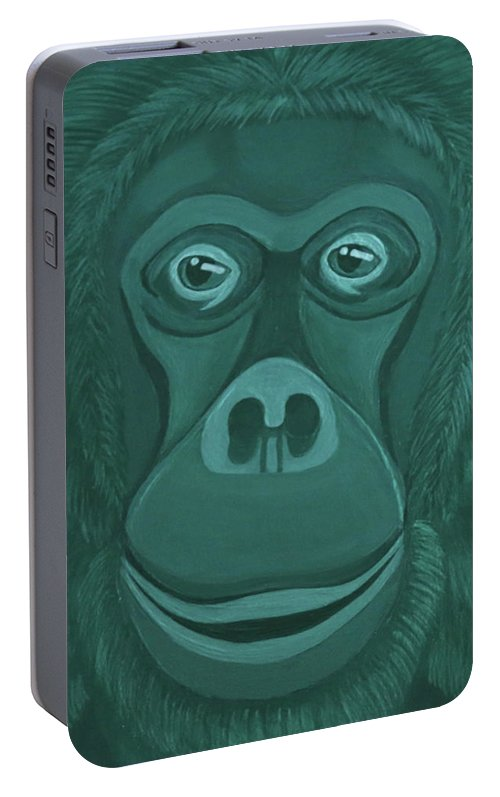 Forest Green Orangutan Portable Battery Charger