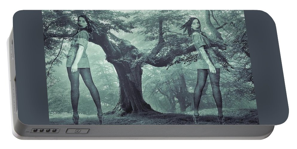 Colette Portable Battery Charger featuring the photograph Forest Harmony by Colette V Hera Guggenheim