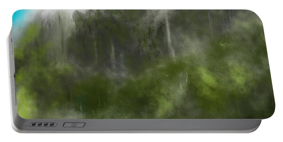 Digital Art Portable Battery Charger featuring the digital art Forest Landscape 10-31-09 by David Lane
