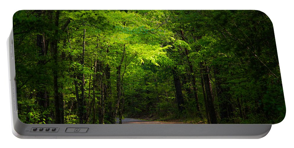 Path Portable Battery Charger featuring the photograph Forest Path by Parker Cunningham