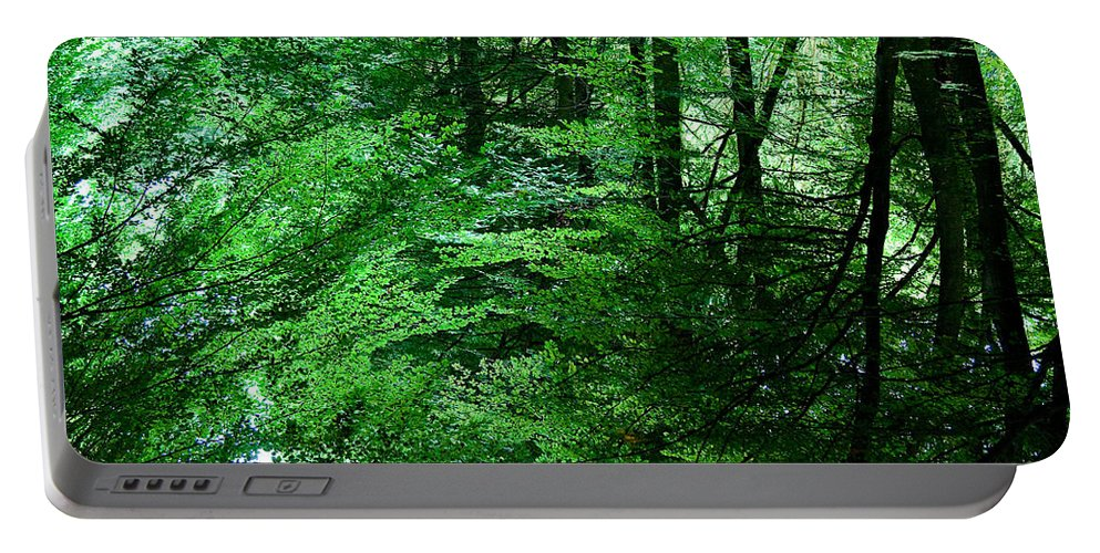 Forest Portable Battery Charger featuring the photograph Forest Reflection by Dave Bowman