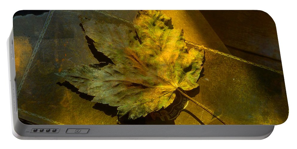 Book Portable Battery Charger featuring the photograph Forever Autumn by LemonArt Photography