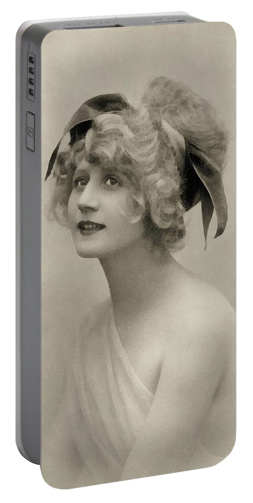 Vintage Portable Battery Charger featuring the painting Forgotten Beauty by Georgiana Romanovna