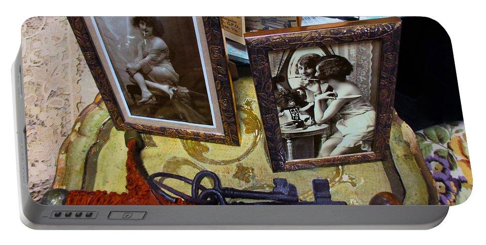 Susan Vineyard Portable Battery Charger featuring the digital art Forgotten Ladies by Susan Vineyard