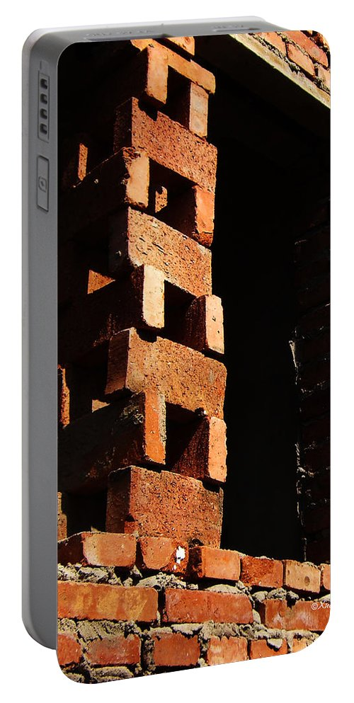 Bricks Portable Battery Charger featuring the photograph Form And Function 7 by Xueling Zou