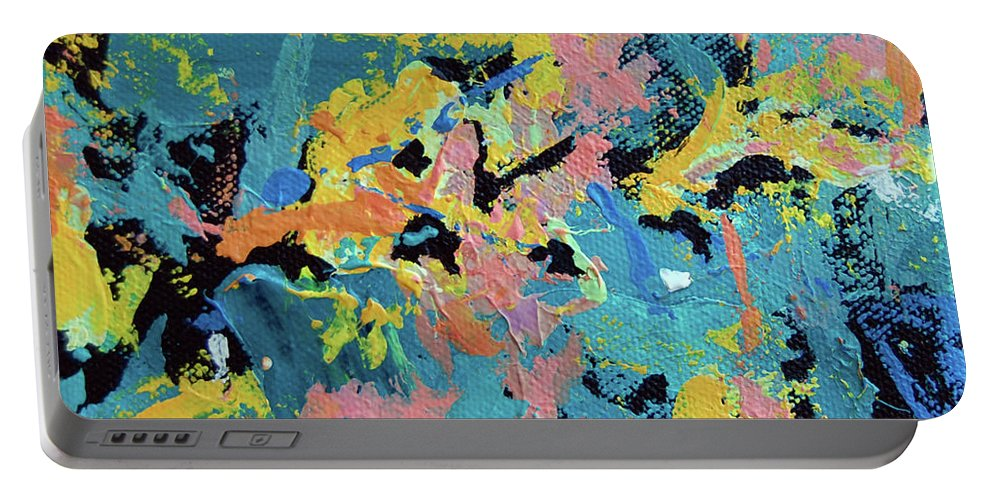Abstract Portable Battery Charger featuring the painting Formica by Dave Jones