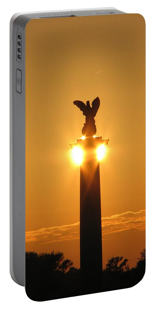 Sunset Portable Battery Charger featuring the photograph Fort Fisher North Carolina by Stacey May