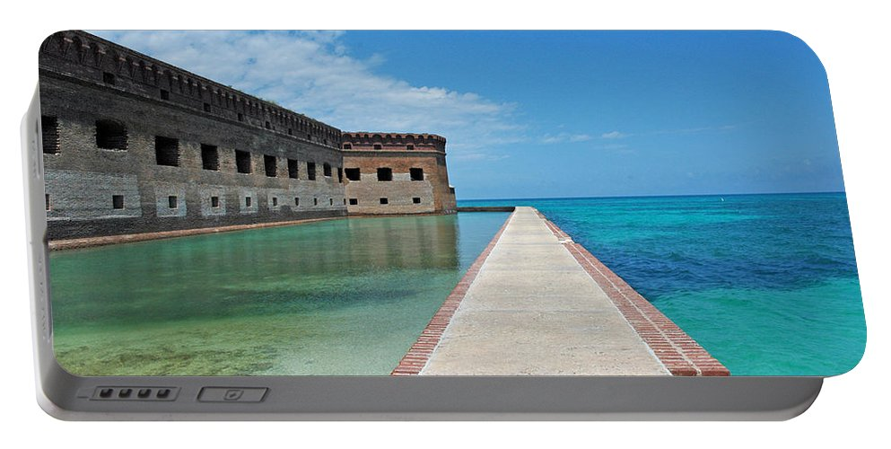 Fort Jefferson Portable Battery Charger featuring the photograph Fort Jefferson Dry Tortugas by Susanne Van Hulst