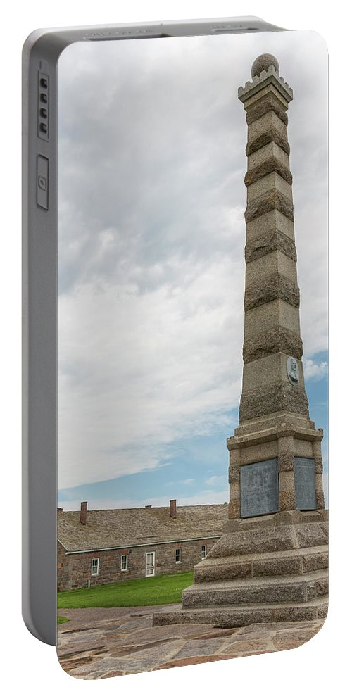 Fort Portable Battery Charger featuring the photograph Fort Ridgely Memorial 1 by John Brueske