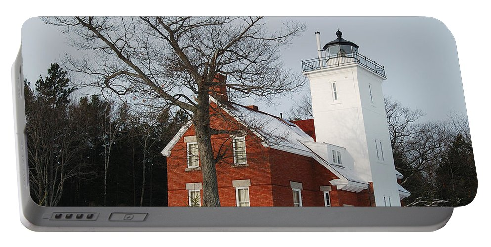 Forty Mile Point Lighthouse Portable Battery Charger featuring the photograph Forty Mile Point Lighthouse by Michael Peychich