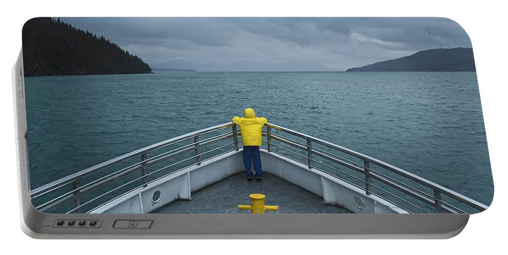 Photograph Portable Battery Charger featuring the photograph Forward Lookout by David Wagner