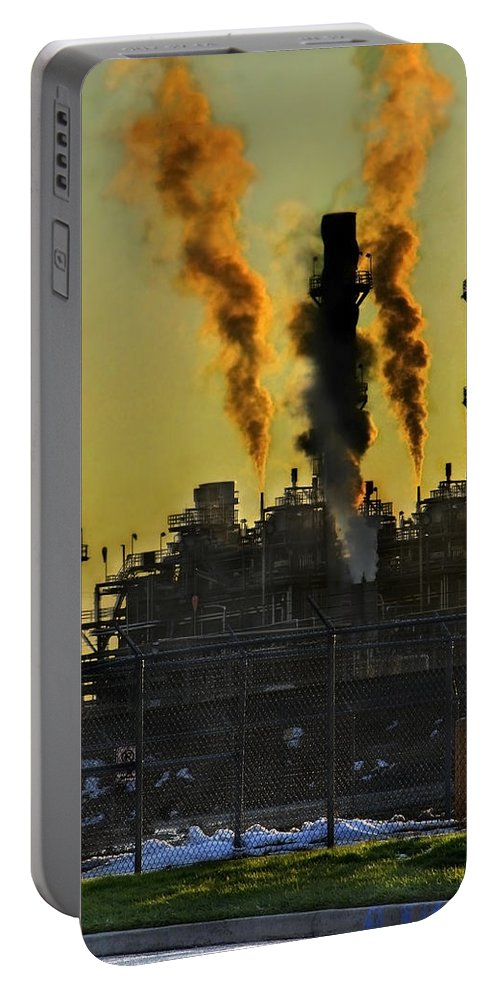 Smoke Portable Battery Charger featuring the photograph Fossil Fuels by Jeffery Ball