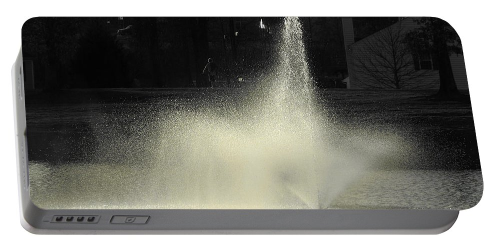 Water Portable Battery Charger featuring the photograph Fountain by Sarah Houser