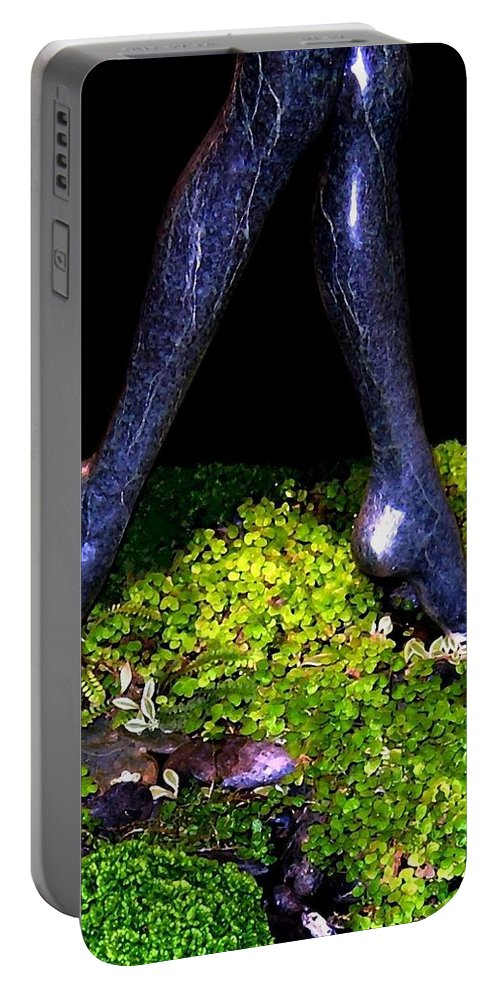 Sculpture Portable Battery Charger featuring the photograph Fountain Sculpture by Will Borden