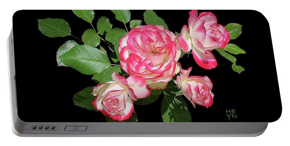 Cutout Portable Battery Charger featuring the photograph Four Roses Cutout by Shirley Heyn