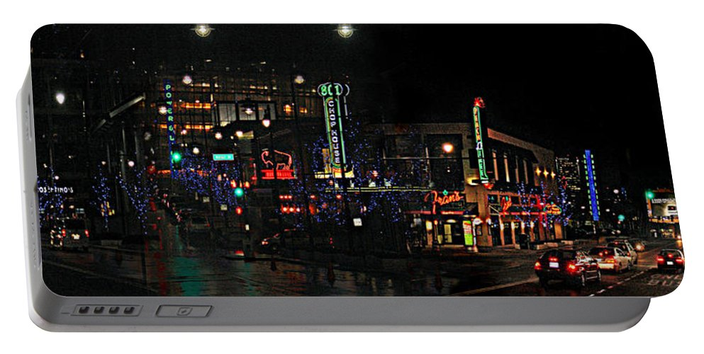 City Scape Portable Battery Charger featuring the photograph Fourteenth and Main by Steve Karol