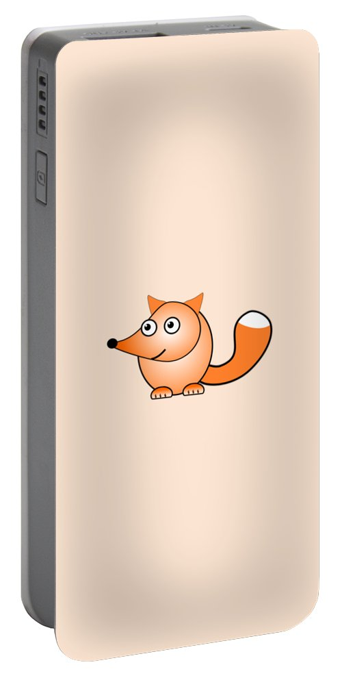 Fox Portable Battery Charger featuring the digital art Fox - Animals - Art For Kids by Anastasiya Malakhova