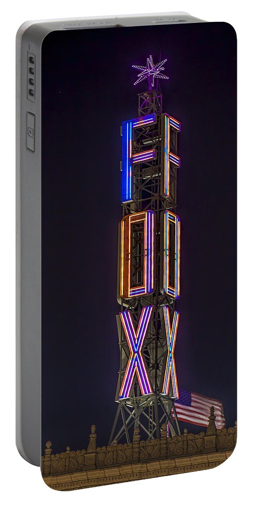 Fox Portable Battery Charger featuring the photograph Fox Theatre Detroit by Nicholas Grunas
