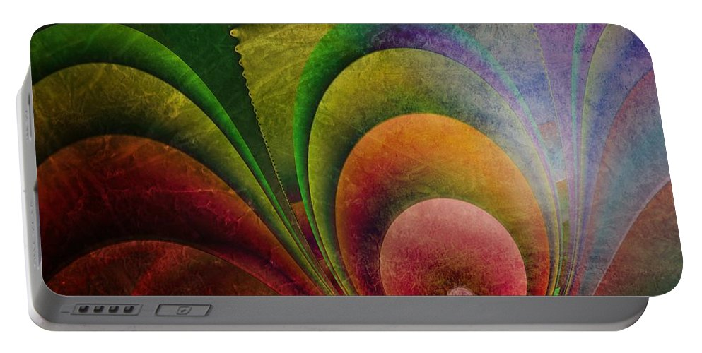 3d Portable Battery Charger featuring the digital art Fractal Design -a4- by Issabild -