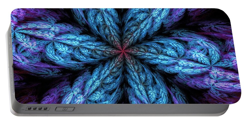 Digital Painting Portable Battery Charger featuring the digital art Fractal Fantasy 02-13-10-a by David Lane