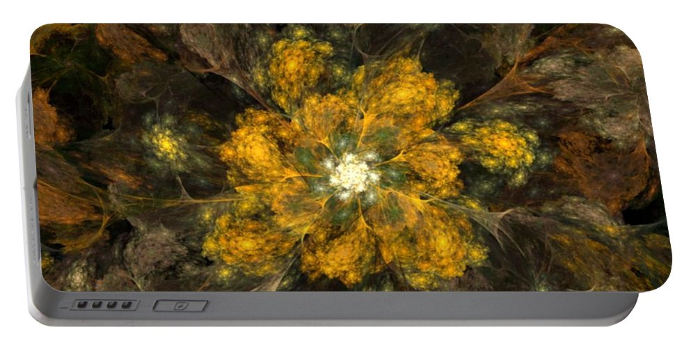 Digital Painting Portable Battery Charger featuring the digital art Fractal Floral 02-12-10 by David Lane