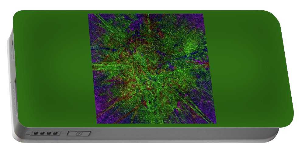 Abstract Portable Battery Charger featuring the digital art Fractal Interchange by Diane Parnell