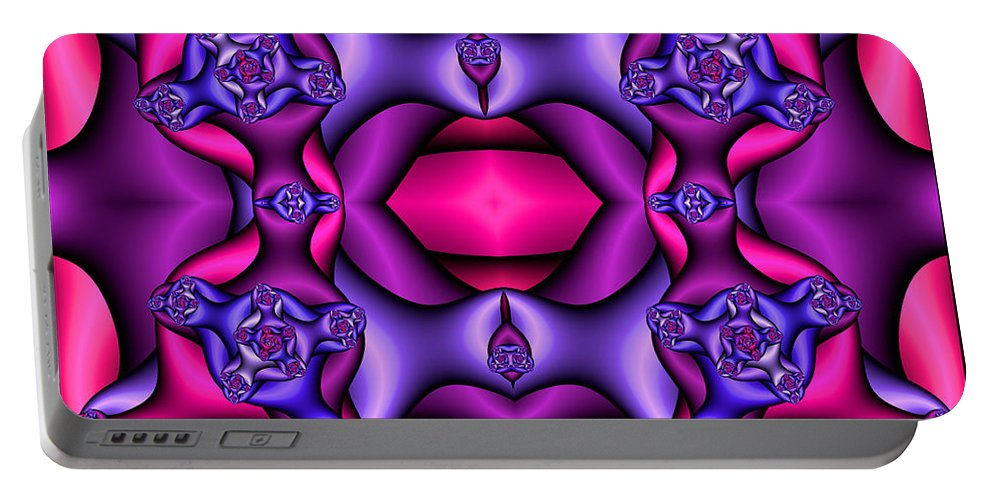 Portable Battery Charger featuring the digital art Fractals By Design by Clayton Bruster