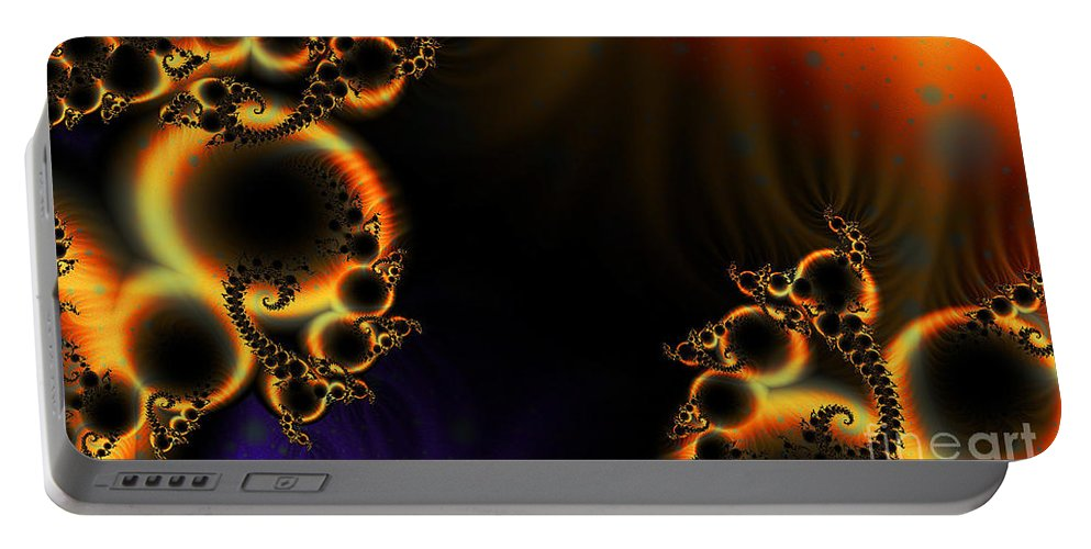 Clay Portable Battery Charger featuring the digital art Fractalscape I by Clayton Bruster