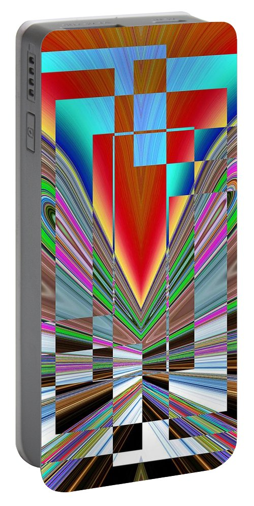 Abstract Portable Battery Charger featuring the digital art Frame Of Mind by Tim Allen