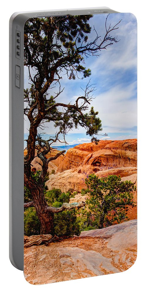 Outdoor Portable Battery Charger featuring the photograph Framed Arch by Chad Dutson
