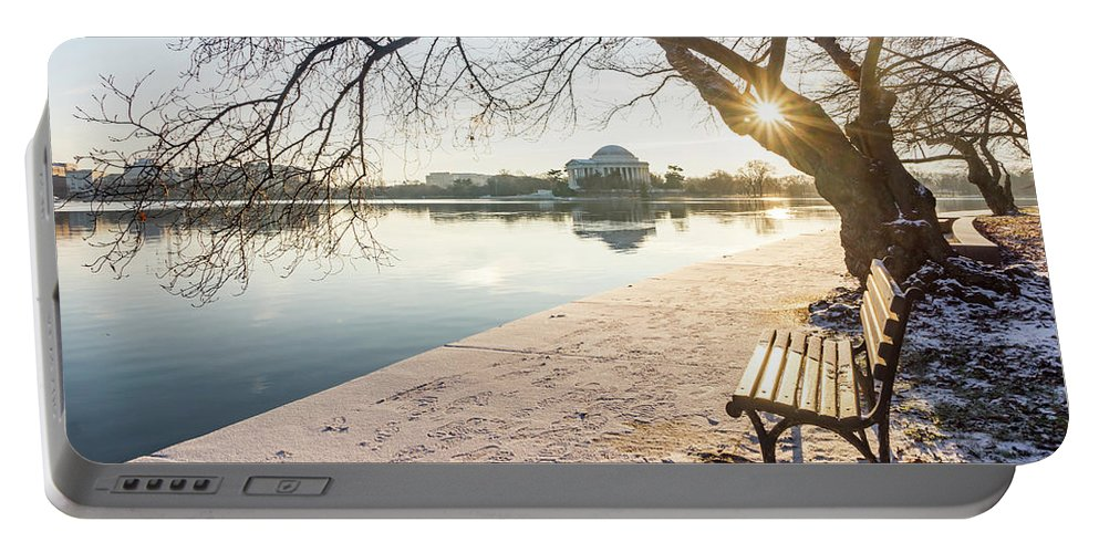 Usa Portable Battery Charger featuring the photograph Framed Jefferson by Framing Places